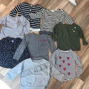 Other - 8 toddler girl 3T mostly crewcuts (jcrew) tops